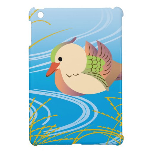 Pretty cute duck floating ON waterside iPad Mini Cover