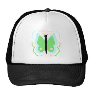 Pretty Cyan And Green Butterfly Hat