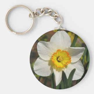 Pretty Daffodil Key Ring