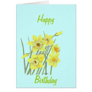 Pretty Daffodils Greeting Card