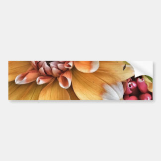 Pretty Dahlia Blooms Bumper Sticker