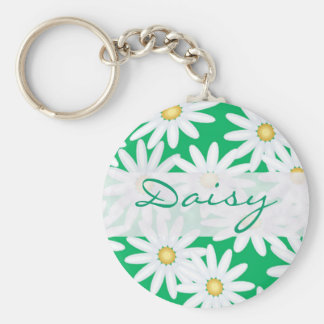 Pretty Daisies Basic Round Button Key Ring