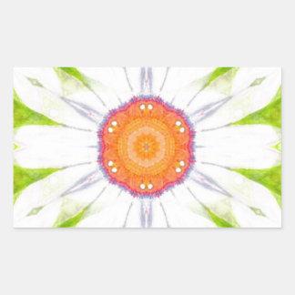 Pretty daisy design rectangular sticker