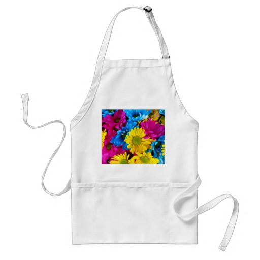 Pretty Daisy Flowers Colorful Petals Gifts Aprons