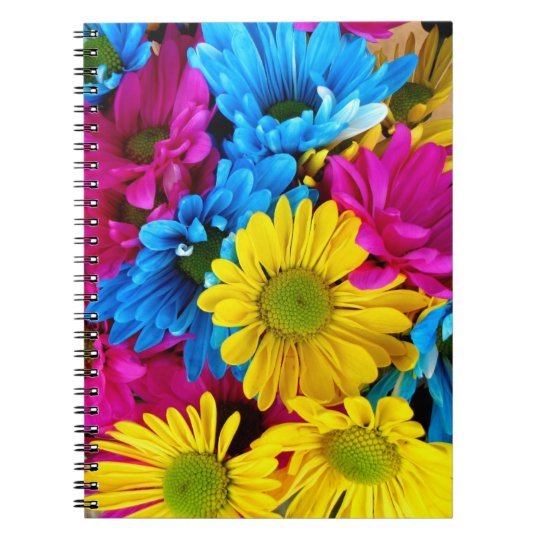 Pretty Daisy Flowers Colourful Petals Gifts Spiral Note