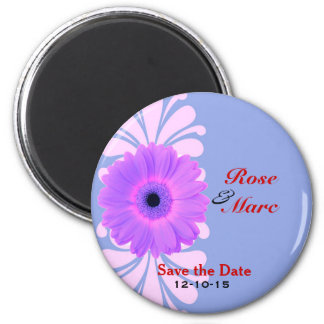 Pretty Daisy Wedding Save the Date Magnet