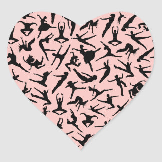 Pretty Dance Heart Stickers