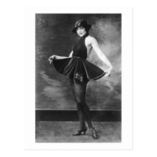 Pretty Dancing Girl, 1910s Postcard