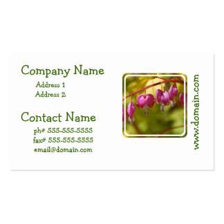 Pretty Dangling Bleeding Heart Flowers Double-Sided Standard Business Cards (Pack Of 100)