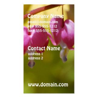 Pretty Dangling Bleeding Heart Flowers Business Card Templates