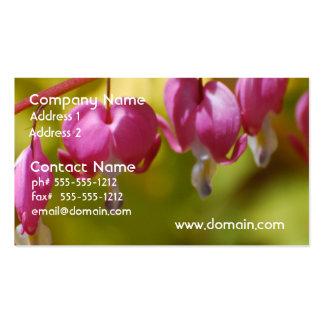 Pretty Dangling Bleeding Heart Flowers Business Card Template