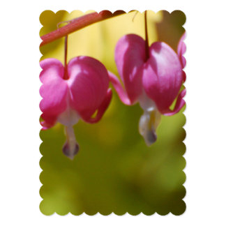 Pretty Dangling Bleeding Heart Flowers 5x7 Paper Invitation Card