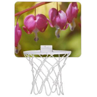 Pretty Dangling Bleeding Heart Flowers Mini Basketball Backboard