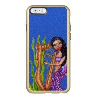 Pretty Dark Haired Purple Mermaid Harp Ocean Incipio Feather® Shine iPhone 6 Case