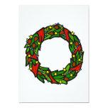 """Pretty decorated wreath 5"""" x 7"""" invitation card"""