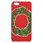 Pretty decorated wreath case for iPhone 5C