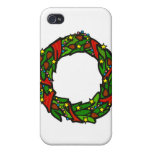 Pretty decorated wreath iPhone 4 cases