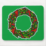 Pretty decorated wreath mouse pad