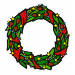 Pretty decorated wreath photo cut outs