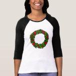 Pretty decorated wreath t-shirts