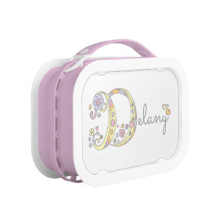 Pretty decorative letter D delany girls lunchbox