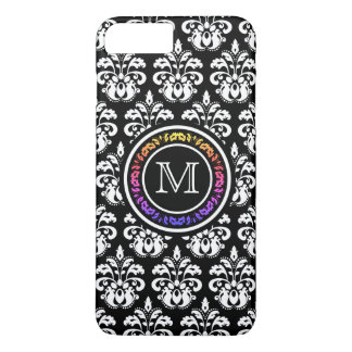 Pretty decorative monogram pattern iPhone 8 plus/7 plus case