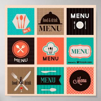 Pretty Decorative Poster Food Menu