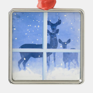 Pretty Deer Family Christmas Ornament