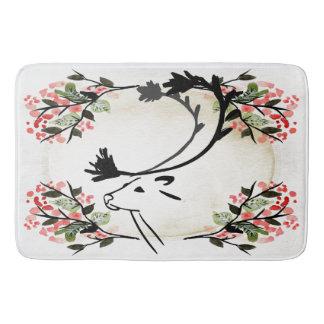 Pretty deer flower fancy Victorian  Bathroom mat Bath Mats