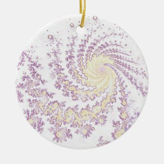 Pretty Delicate Swirling Pattern Christmas Ornament