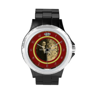 Pretty Diamond Wedding Ring with Photo on Red Wristwatches