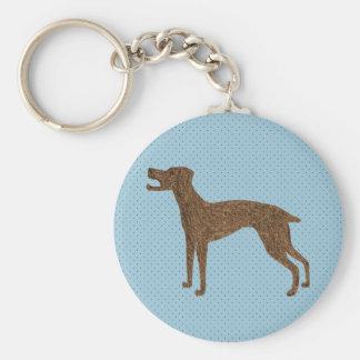 Pretty dog design basic round button key ring