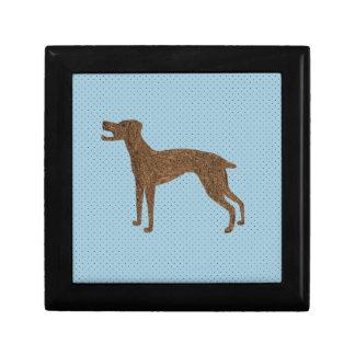 Pretty dog design small square gift box
