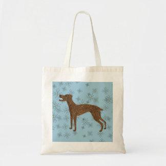 Pretty dog design tote bag