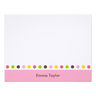 Pretty Dots Thank You Card Personalized Invitation