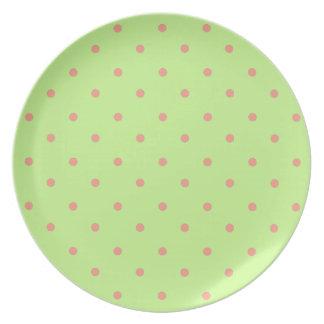 Pretty-Dottie(c)_New-Green_Coral_Dots Plate