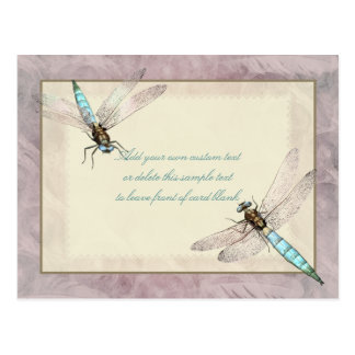 Pretty Dragonflies Message Card Postcard