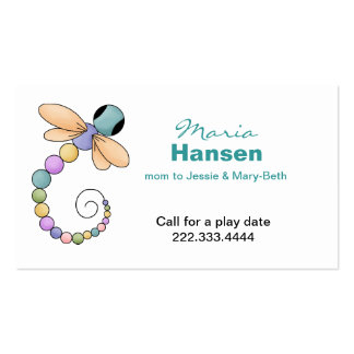 Pretty Dragonfly Mommy Card Pack Of Standard Business Cards