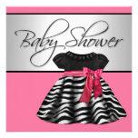 Pretty Dress Pink Zebra Baby Shower