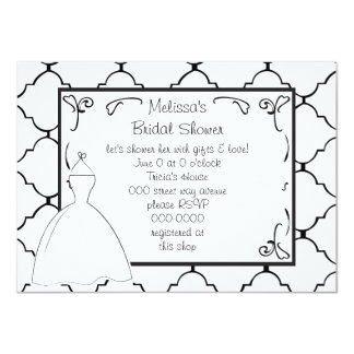 Pretty Dress Sketch 11 Cm X 16 Cm Invitation Card