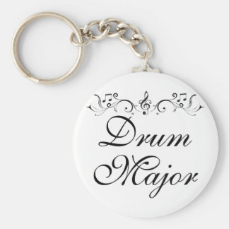 Pretty Drum Major Marching Band Gift Basic Round Button Key Ring