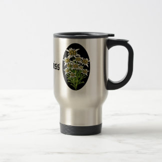 Pretty Edelweiss Flowers Custom Travel Mug