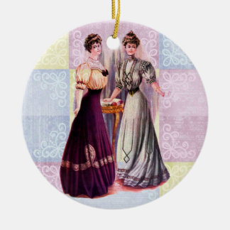 Pretty Edwardian Fashions Christmas Ornament