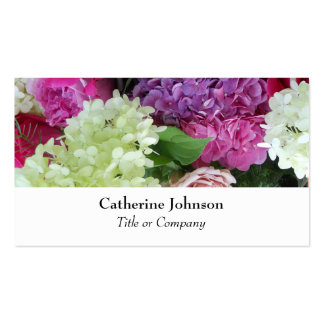 Pretty Elegant Flowers Florist  Professional White Pack Of Standard Business Cards