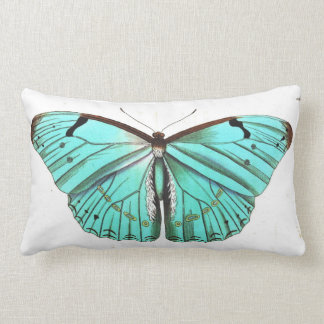 Pretty Elegant Turquoise Butterfly Pillow Throw Cushions