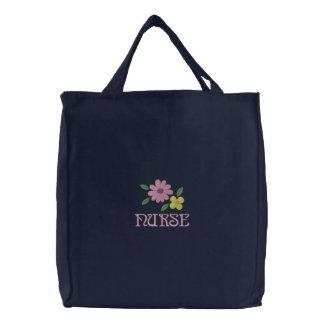 Pretty Embroidered Nurse Tote Bag