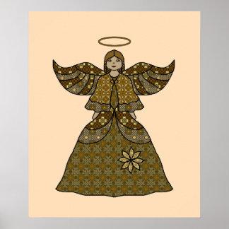 Pretty Ethnic Girl Angel Poster