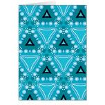 Pretty Fabric Pattern Collection - Aqua 07 Greeting Card
