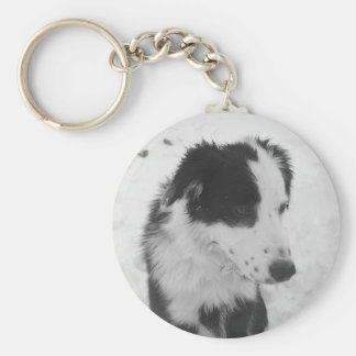 Pretty Face Basic Round Button Key Ring