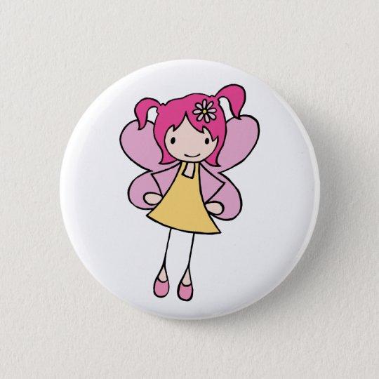 Pretty Fairy 6 Cm Round Badge